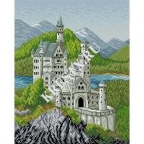 Схема вышивки «Замок Нойшванштайн» Смотреть скриншот