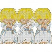 Скачать бесплатную схему вышивки крестом «Три ангелочка»