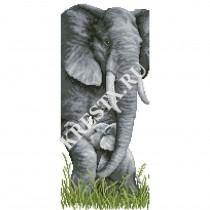 Скачать бесплатную схему вышивки крестом «Слоненок»