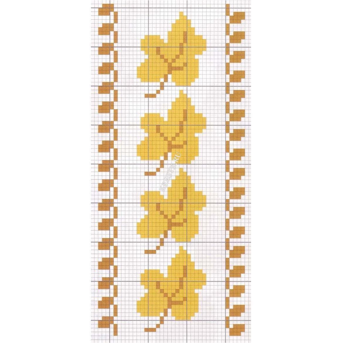 Вышивка крестом осенние листья схемы