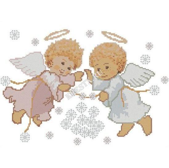 Вышивка крестом ангелочки схемы скачать бесплатно