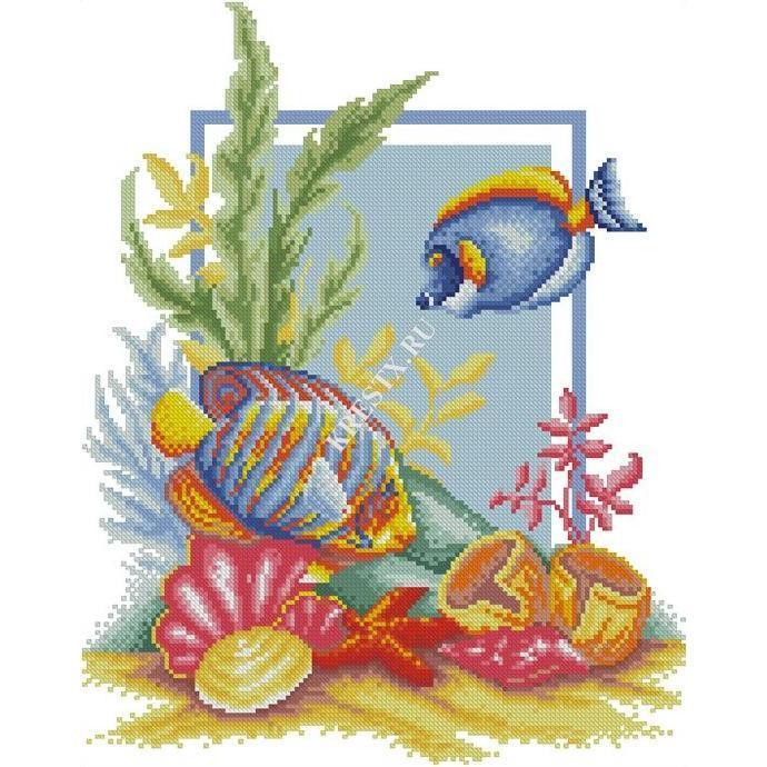 Вышивки рыбки скачать бесплатно