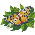 Скачать бесплатную схему вышивки крестом «Желтая бабочка»