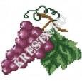 Скачать бесплатную схему вышивки крестом «Виноградная ветвь»