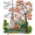 Схема вышивки крестом «Петропавловский собор»