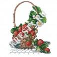 Скачать бесплатную схему вышивки крестом «Земляника в корзине»