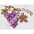 Скачать бесплатную схему вышивки крестом «Гроздь винограда»