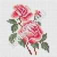 Скачать бесплатную схему вышивки крестом «Розы»