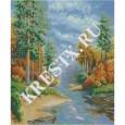 Скачать бесплатную схему вышивки крестом «Осень»