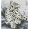 Скачать бесплатную схему вышивки крестом «Снежный леопард»