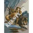 Скачать бесплатную схему вышивки крестом «Волчица»