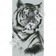 Скачать бесплатную схему вышивки крестом «Тигр»