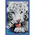 Скачать бесплатную схему вышивки крестом «Белый тигр»