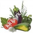Скачать бесплатную схему вышивки крестом «Овощи»