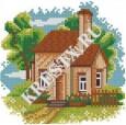 Скачать бесплатную схему вышивки крестом «Садовый домик»