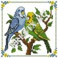 Скачать бесплатную схему вышивки крестом «Неразлучная пара»