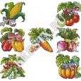 Скачать бесплатную схему вышивки крестом «Садовые овощи»