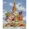 Схема вышивки крестом «Собор Василия Блаженного зимой»