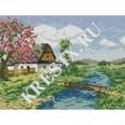 Скачать бесплатную схему вышивки крестом «Весенний пейзаж»