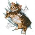 Скачать бесплатную схему вышивки крестом «Котенок»