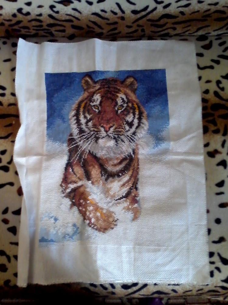 Амурский тигр вышивка крестом схема