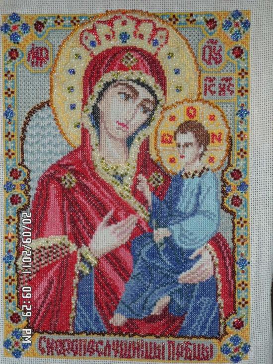 Иверская икона божьей матери схема вышивки 35