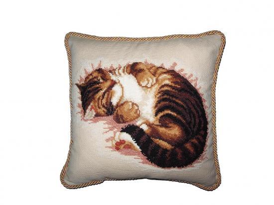 Спящий кот. схема вышивки